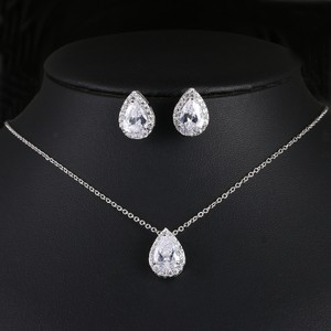 Bridal Shoppe Silver/Gold/Rose Gold Aaa Cubic Zirconia Bridesmaid Colors Jewelry Set