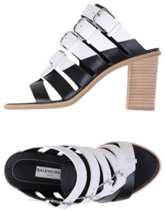 Balenciaga Black/White Sandals