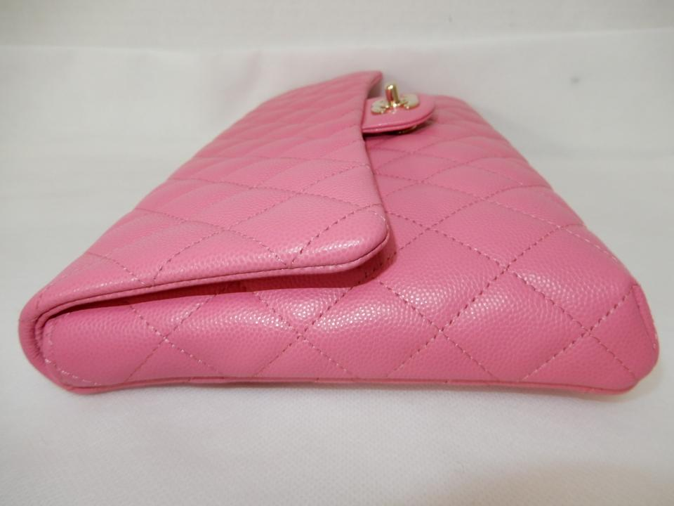 0d5b442f Chanel Classic Flap Large Bubble Gum Caviar Pink Leather Clutch ...