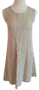 Flax by Jeanne Engelhart short dress Off-white with black stripes on Tradesy
