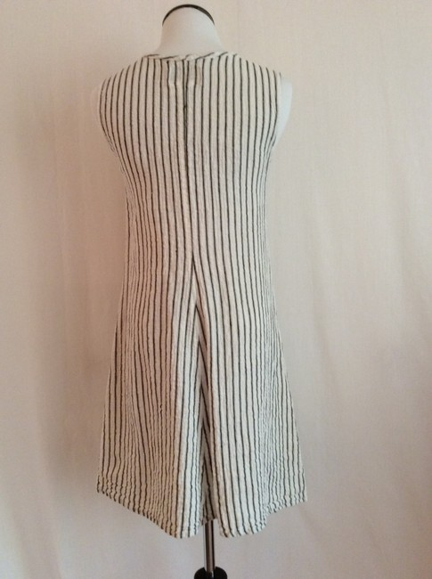 Flax by Jeanne Engelhart short dress Off-white with black stripes on Tradesy Image 1