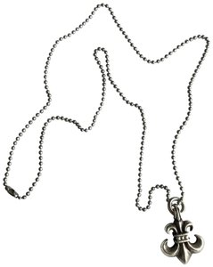 b326422c8b41 Chrome Hearts FLEUR DE LIS STERLING SILVER PENDANT BALL CHAIN NECKLACE