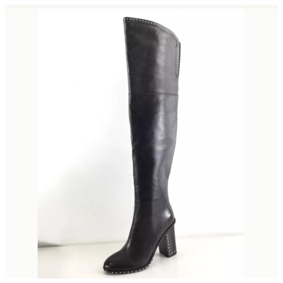9be9be747df Sigerson Morrison Black New Mars Leather Studded Women s M Boots Booties