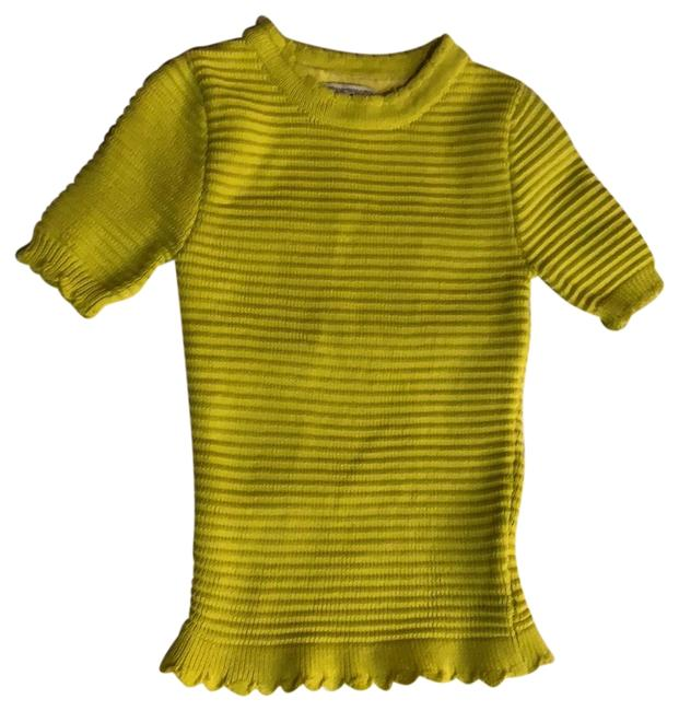 Item - Ribbed Slim Yellow Sweater