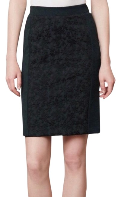 Item - Black Moulinette Soeurs Piana Pencil Euc Skirt Size 6 (S, 28)