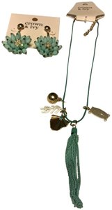 Belk Montauk Weekend, Palm Charm Necklace & Cluster Dangle Earrings