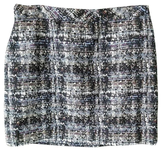 Item - Blue Marbled Multicolor Metallic S Skirt Size 6 (S, 28)