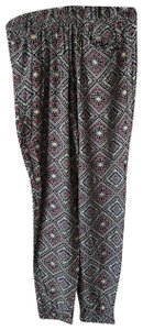 Forever 21 Bohemian Print Relaxed Pants purple