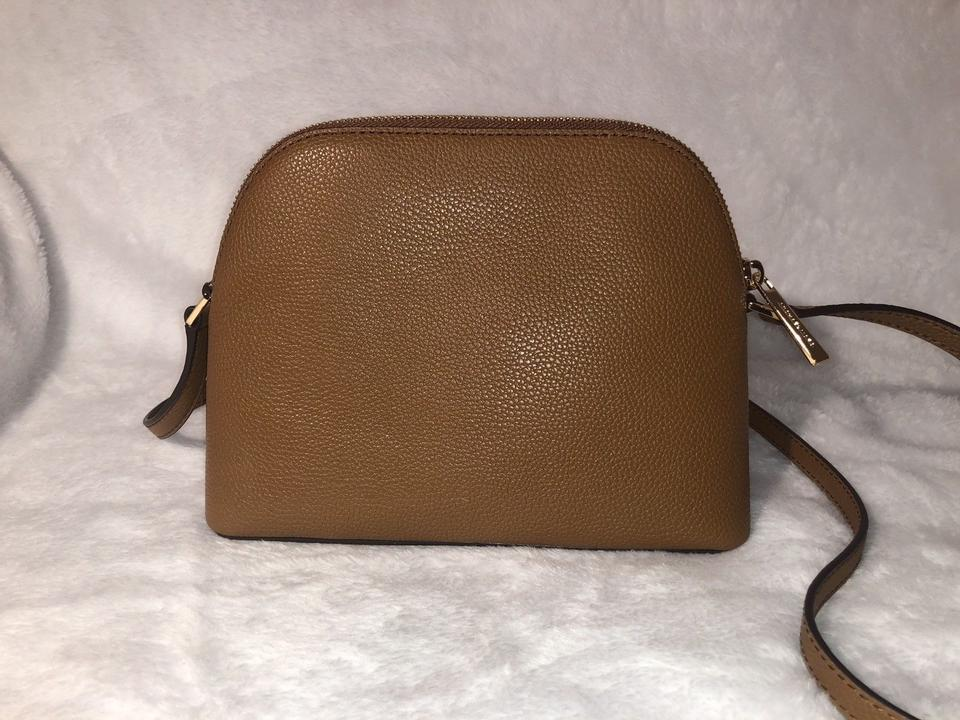 45fe4dda058f Michael Kors Adele Leather Brown Cross Body Bag Image 9. 12345678910
