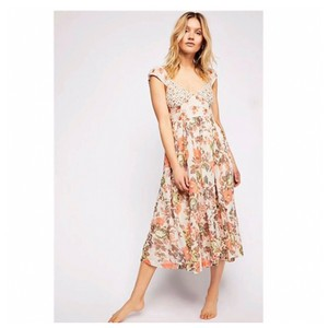 783c408ef0d6 Free People New with Tags Love You Cotton Summer Floral Midi Mid ...