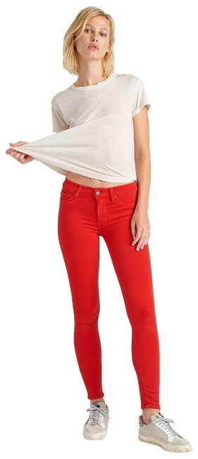 Item - Red Nico Midrise Super Ankle In (L) Skinny Jeans Size 31 (6, M)