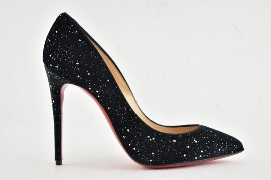huge selection of d74bc 643eb Christian Louboutin Black Pigalle Follies 100 Velvet Galactica Stiletto  Classic Heel Pumps Size EU 37 (Approx. US 7) Regular (M, B)