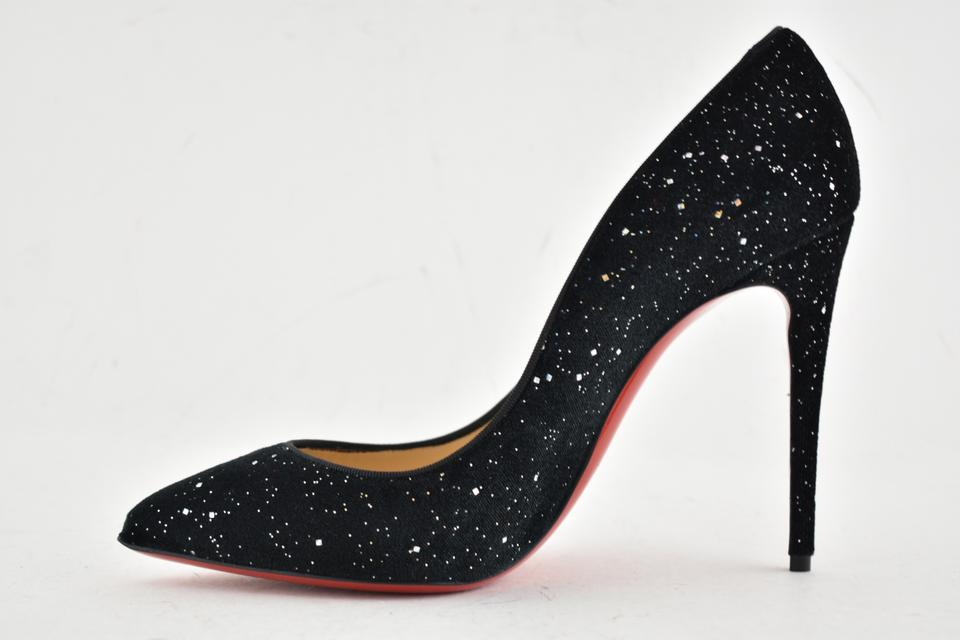 competitive price c88d2 c9c48 Black Pigalle Follies 100 Velvet Galactica Stiletto Classic Heel Pumps