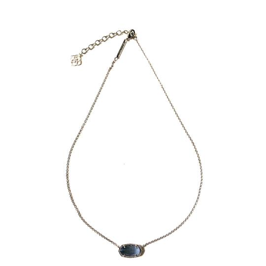 Preload https://img-static.tradesy.com/item/24535234/kendra-scott-silver-elisa-slate-glass-necklace-0-0-540-540.jpg