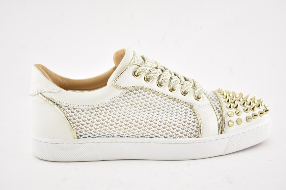 0b33530c2b33 Christian Louboutin Flat Spike Sneaker Trainer Vieira white Athletic Image  11. 123456789101112