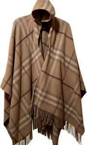 Burberry Casual Classic Fringe Hem Hooded Comfortable Cape