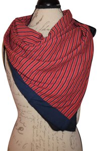 A New Day Striped Bordered Large Lightweight Thin Square Scarf Wrap