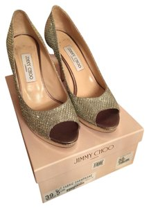 Jimmy Choo Silver champagne Pumps