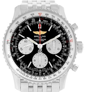 Breitling Breitling Navitimer 01 Black Dial Steel Mens Watch AB0120 Box Papers