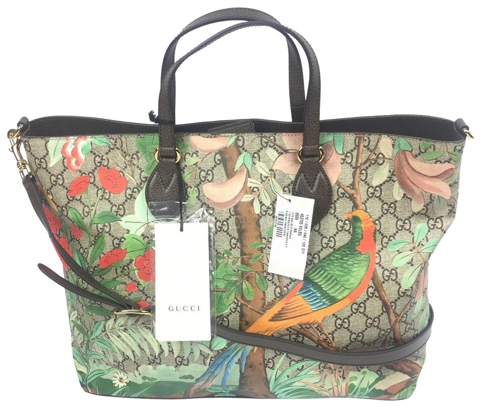 929cdc54039f Gucci #453705 Tian Print W/Strap and Tian Multi-color Gg Supreme ...