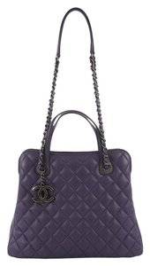 330db1a7ca36 Chanel Daily Quilted Medium Purple Lambskin Tote - Tradesy