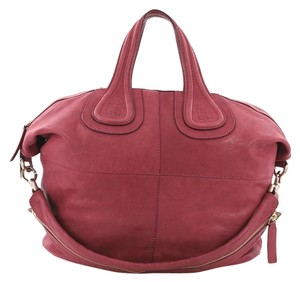 Givenchy Leather Satchel in dark pink