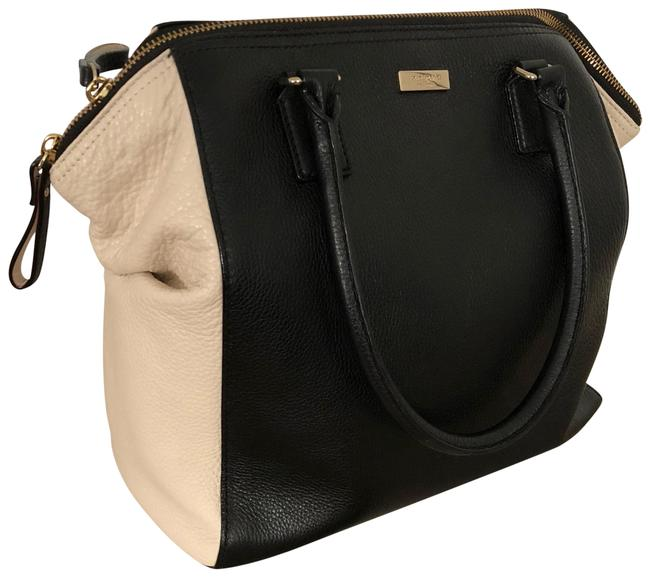 Item - New York Ollie Magnolia Park Black and Tan Lambskin Leather Satchel