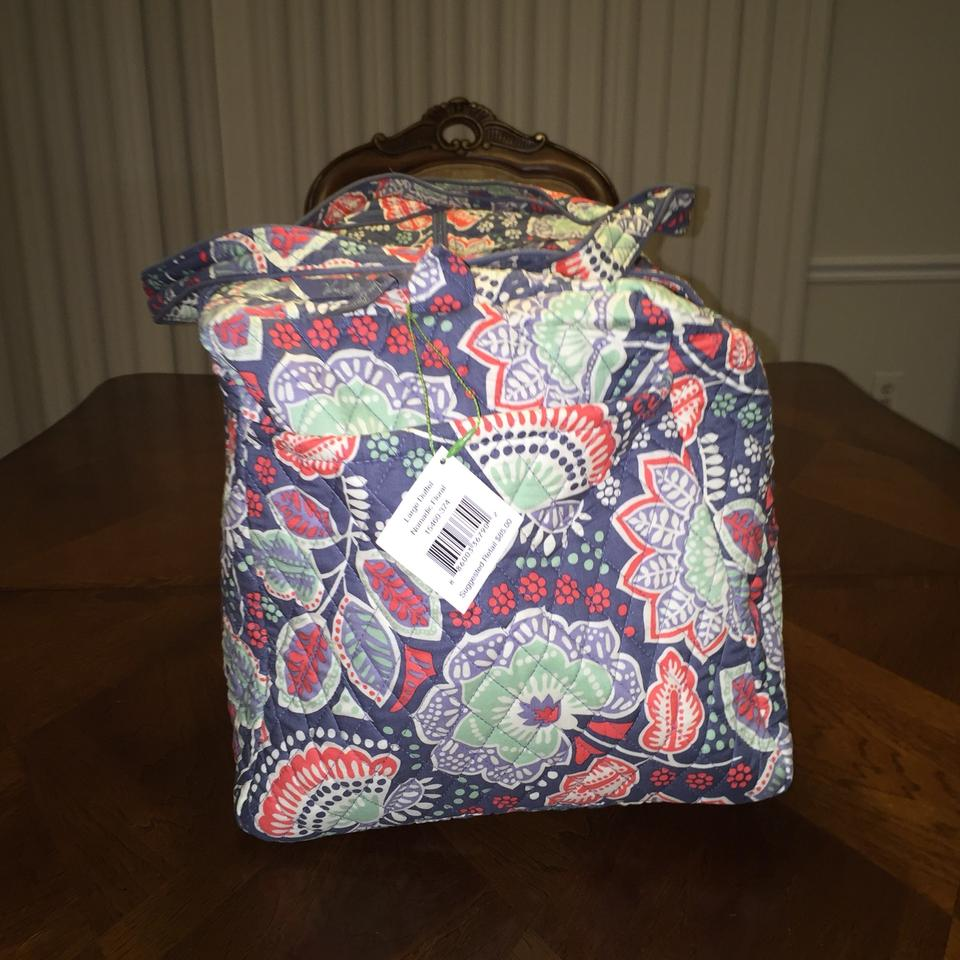 76d4cb0a80 Vera Bradley Large Duffel In Nomadic Floral Multicolor Cotton ...