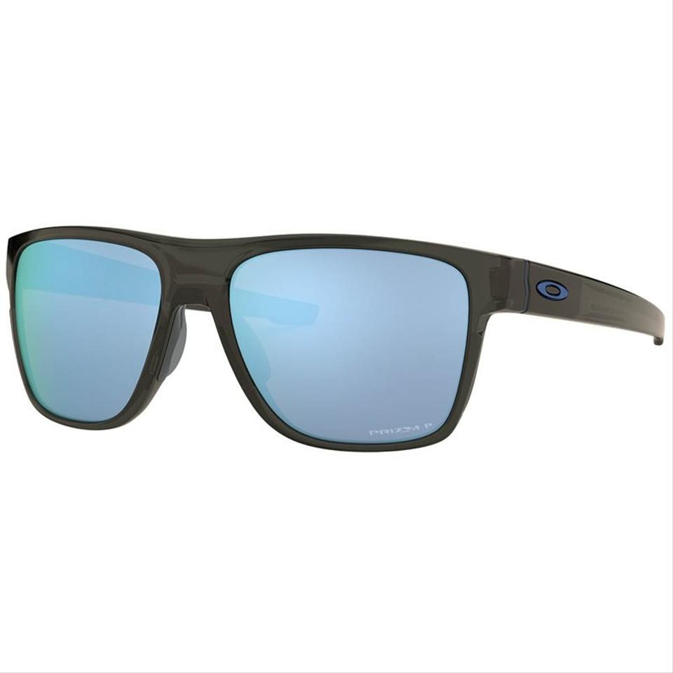 2fca291f36 Oakley Crossrange Xl Grey Smoke Frame   Prizm Deep Water Hdo Polarized Lens  Oo9360-2458 Square Style Unisex Sunglasses