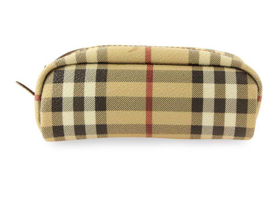 05800ff7f0cf Burberry Beige Haymarket Check Small Cosmetic Bag - Tradesy