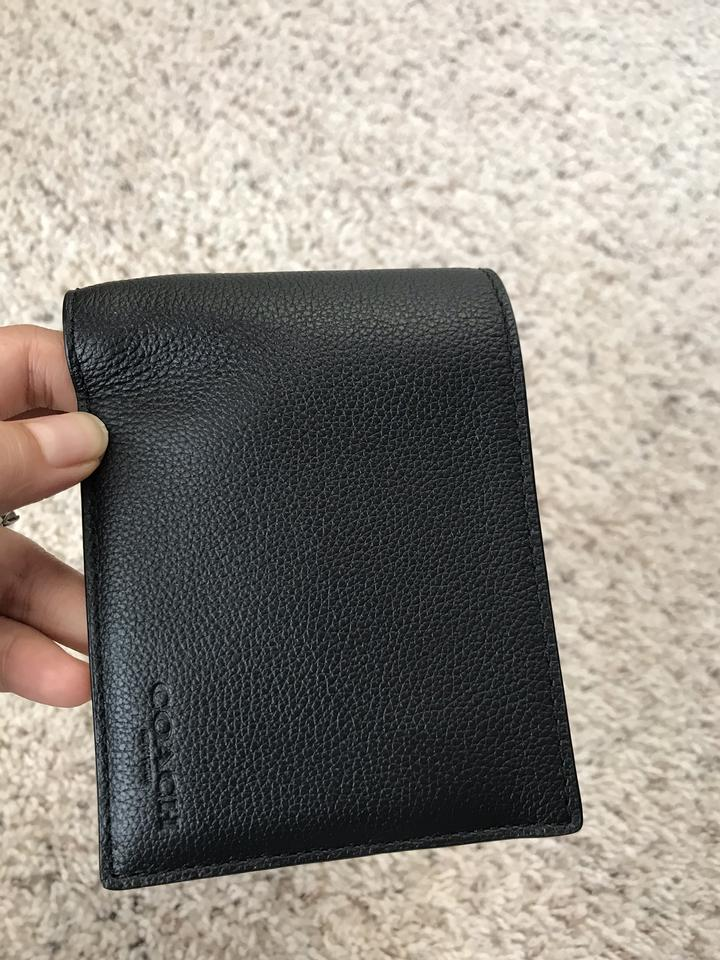9eb4aff61f7a Coach  175 NWT Compact ID Wallet In Sport Calf Leather F74991 Image 10.  1234567891011