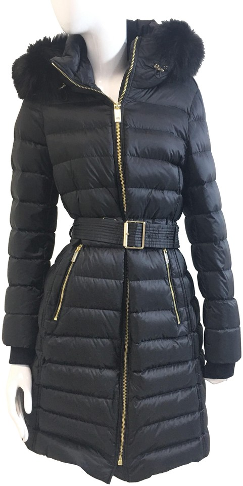 fcf5f9e18d8 Burberry London Black Women s Limefield Quilted Down-filled Belted Small  Coat