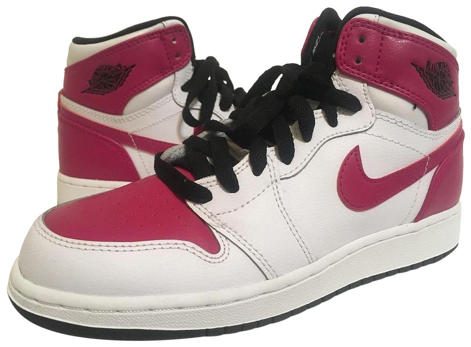 check out 113f9 b85b3 Nike Pink Air Jordan & White Leather Women's Girl's High Tops Sneakers Size  US 5.5 Regular (M, B)