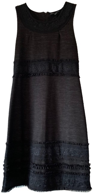 Item - Black/Gray Holiday Mid-length Cocktail Dress Size 4 (S)