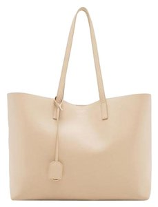Saint Laurent Ysl Shopping Tote in Beige