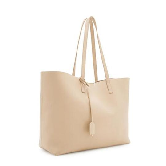 Saint Laurent Ysl Shopping Tote in Beige Image 1