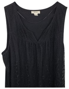 Style & Co Top Black lace