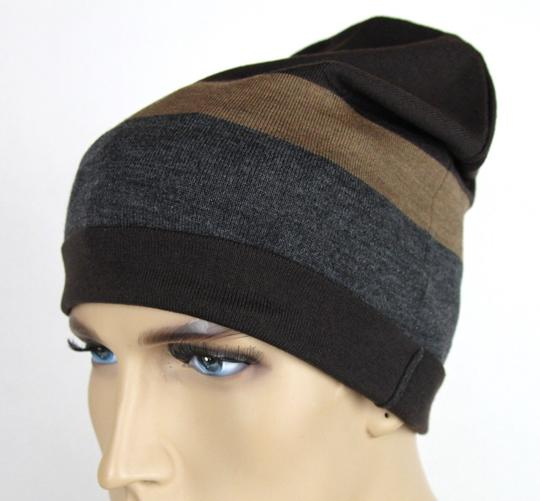 Gucci New Gucci Brown Gray Wool Beanie Hat w/Logo Size L 353999 2162 Image 1