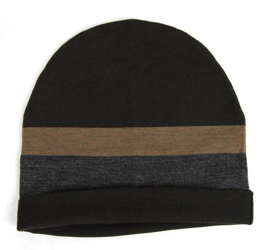 Gucci New Gucci Brown Gray Wool Beanie Hat w/Logo Size L 353999 2162 Image 2