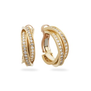 Cartier Cartier 18K Yellow Gold Diamond Trinity Earrings