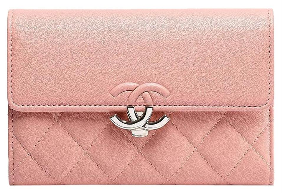 829e2cf72751 Chanel Pink Flap Coin Purse Card Holder Wallet - Tradesy