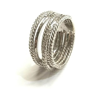 David Yurman GORGEOUS! David Yurman Crossover Wide Cable Pave Diamond Ring Sterling Silver 0.18 carat Total Weight Pave Diamonds 11mm Wide RARE!! Size 9 100% Authentic Guaranteed!! Comes with Original David Yurman Pouch!!