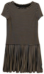 Nine West short dress Black and Nude Stripes on Tradesy