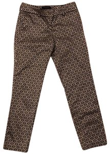 Ann Taylor Straight Pants black and gold