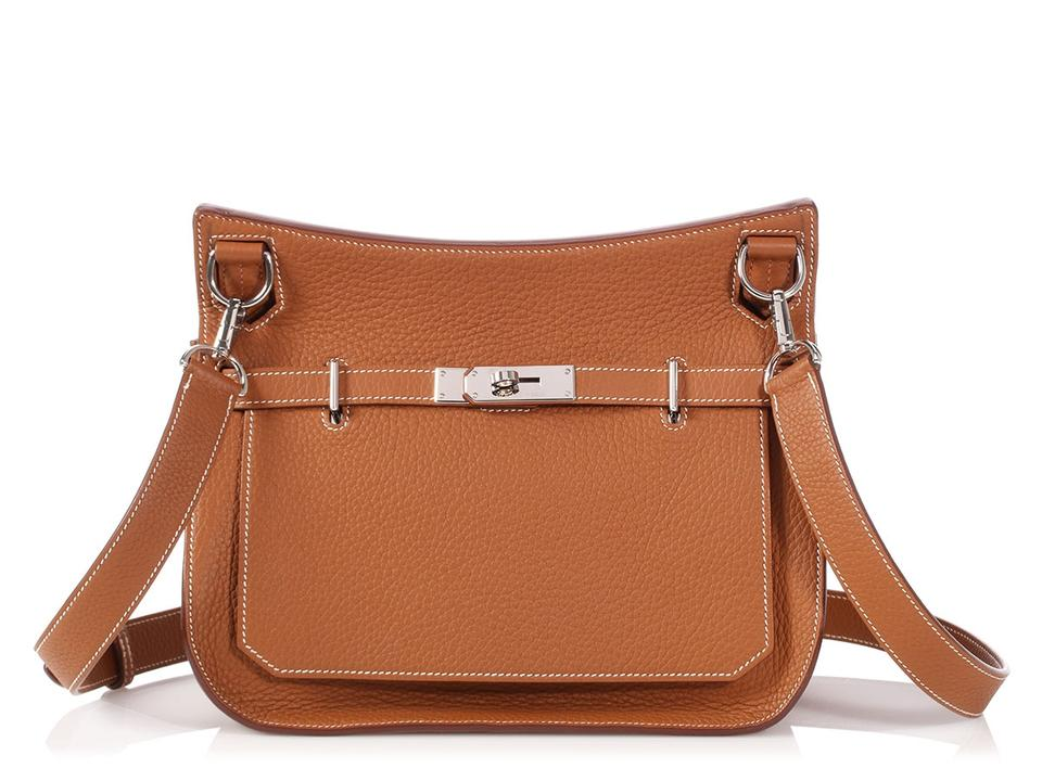 f1ca185edf Hermès Jypsiere   in La  jypsiere 28 Clemence Gold Leather Cross ...