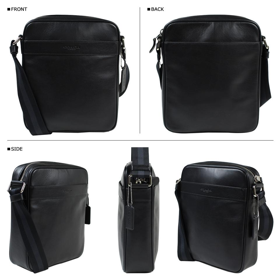 Coach Charles Small Flight In F54782 Black Leather Messenger Bag ... 594cb8f4d3