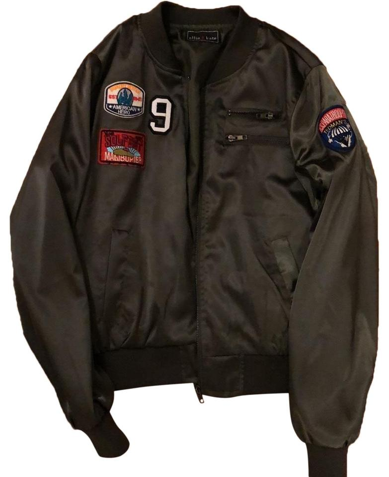 4cf463aca Green Bomber with Patches Jacket Size 4 (S)
