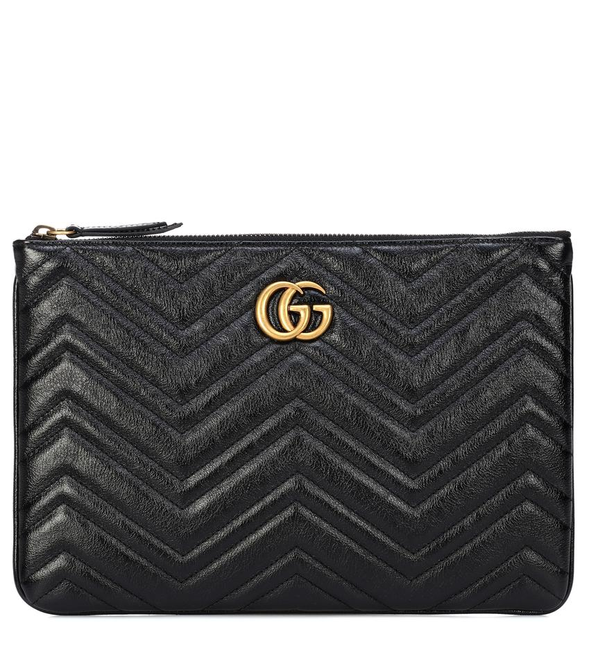 1fc3d63a5 Gucci Marmont Gg Quilted Leather Clutch - Tradesy