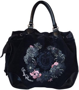 Juicy Couture Velvet Cotton Shoulder Bag