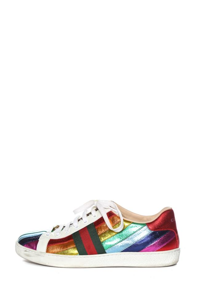 c44aa691d56d Gucci Multicolor Ace Metallic Leather Sneakers Sneakers Size EU 39 ...